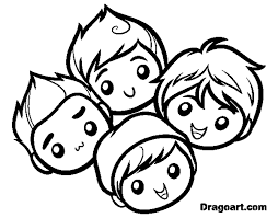 big time rush for kids coloring page free download