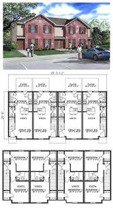 Multi Unit Apartment Floor Plans Plan 59323nd Beautifully Combined Duplex Duplex Plans