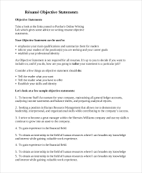 Example Of Resume Objective Resume by Resume Objective Example 8 Samples In Pdf Word