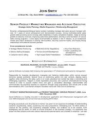 senior executive resume samples manager resume template free