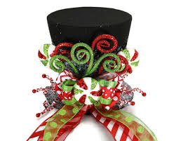 candy christmas tree topper black candy cane tree topper holiday