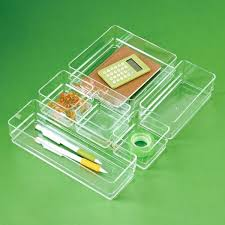 acrylic desk drawer organizer acrylic drawer organizer set roll over to zoom clear acrylic desk drawer
