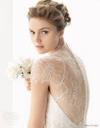 wedding dress lace back and sleeves by rosa clará 2014 wedding dresses wedding inspirasi