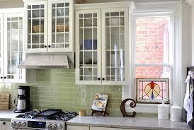green tile kitchen backsplash green subway tile kitchen contemporary with tile backsplash glass