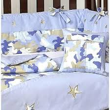 sweet jojo designs camo blue collection 9pc crib bedding set