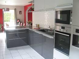 cuisine et grise cuisine equipee grise laquee