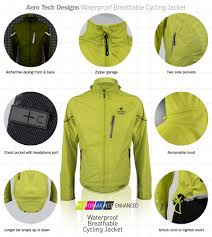 gore bike rain jacket aero tech waterproof breathable and windproof cycle jacket rainwear