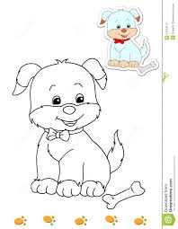 coloring book animals 9 dog stock photography image 14704112