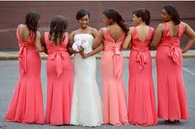 bridesmaid dresses coral custom made plus size coral bridesmaid dresses mermaid bow