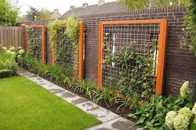 wood framed wire trellisgardens ideas fence landscapes ideas wire