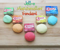 jell o marshmallow fondant 4 steps with pictures