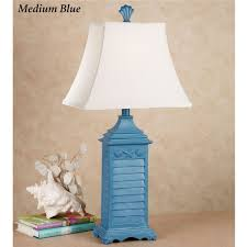 shell shutter table lamp
