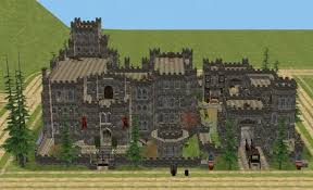 mod the sims shadows of gwrych medieval neighborhood 45 lots total