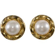 1970s earrings chanel faux pearl 1970s earrings chic antiques by wiggins