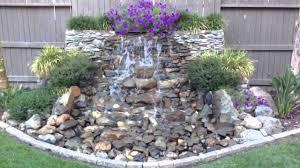 diy backyard waterfall updated youtube