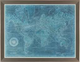 Framed World Map by