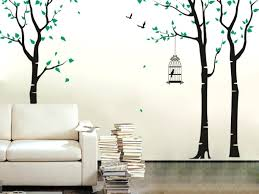 bird cage wall decal tree with birds and birdcage wall decal by