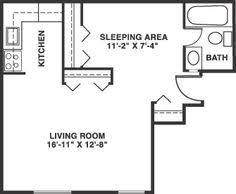 Studio Apartment Floor Plan Design Small Studio Apartment Floor Plans Studio Apartment Garage