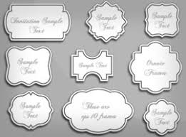 free ornament frames vector