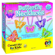 amazon com creativity for kids butterfly necklaces children u0027s