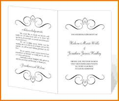 wedding programs printable 8 free printable wedding program templates card authorization 2017