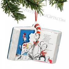 Christmas Book Ornaments - department 56 licenses cat glass and paper book ornament