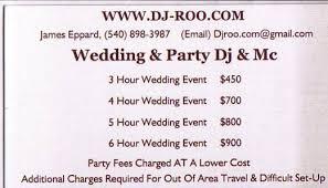 dj wedding cost dj roo dj fredericksburg va weddingwire
