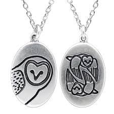 owl necklace silver images Silver barn owl necklace jpg
