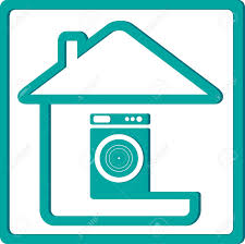 House Silhouette by Icon With Washing Machine And House Silhouette Royalty Free