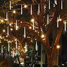 outdoor lights vmanoo led outdoor lights 8 meteor shower lights solar
