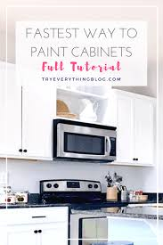 what is the best way to paint kitchen cabinets white the fastest way to paint kitchen cabinets with the best results