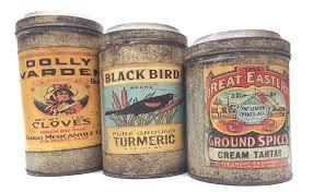 addie vintage label metal kitchen canisters set 3 decor