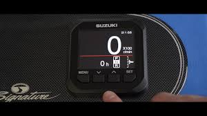 suzuki marine multi function gauge youtube