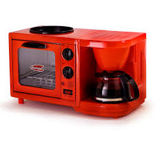 Lg Toaster Oven Americana By Elite Ebk 200r 3 In 1 Mini Breakfast Shoppe Coffee