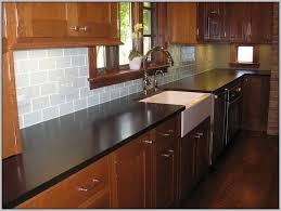 glass tile backsplash with dark cabinets white subway tile backsplash with dark cabinets for the home