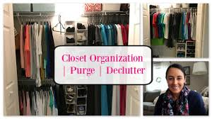 organize with me master bedroom closet declutter youtube
