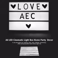 a4 cinematic light up emoji letter box sign diy message board