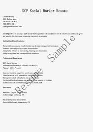 social worker resume sample berathen com objective for work