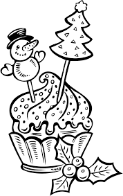 fruitcake christmas coloring coloring