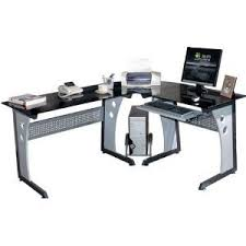 Easy To Assemble Desk Black Glass Corner Computer Desk Discount Office Products