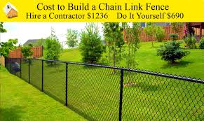 decoration beautiful cost build chain link fence how much acre