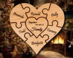 puzzle ornament etsy