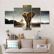 elephant canvas wall art for home decor 5pcs set u2013 my soul