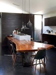 dining table kitchen island home decorating trends homedit pairing raw beauty with sleek designs through live edge tables