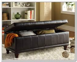 Leather Storage Ottoman With Tray Brilliant Black Leather Ottoman Storage Best Storage Ideas Website