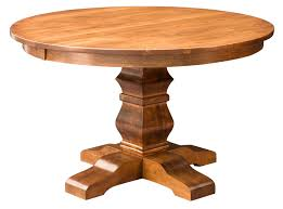 details about amish round pedestal dining table solid wood rustic