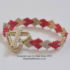 beaded heart bracelet images Valentine beading projects my world of beads jpg
