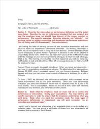 9 absence warning letter templates free word pdf excel format
