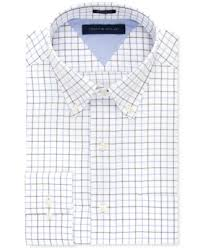 tommy hilfiger multi blue tattersall dress shirt dress shirts