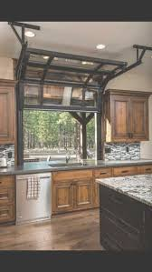 herringbone kitchen backsplash oak wood nutmeg glass panel door lake house kitchen ideas sink